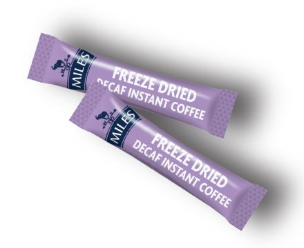 Miles 100 Instant Decaffeinated Coffee Sticks