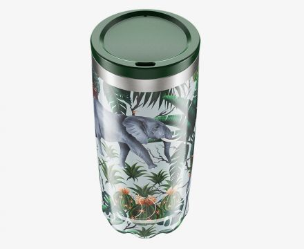 Chilly's Travel Cup Tropical Elephant Print