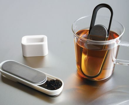 Kinto black LOOP Tea Strainer